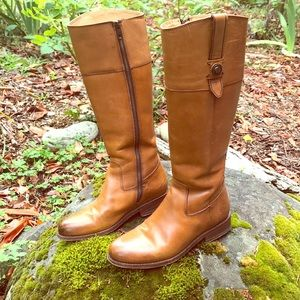 Frye Tall Brown Distressed Melissa Boots Size 7